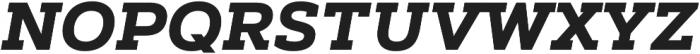 Artegra Slab Bold Italic otf (700) Font UPPERCASE