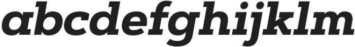 Artegra Slab Bold Italic otf (700) Font LOWERCASE