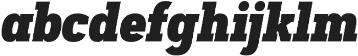 Artegra Slab Condensed Black Italic otf (900) Font LOWERCASE