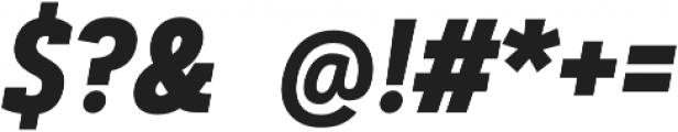 Artegra Slab Condensed Bold Italic otf (700) Font OTHER CHARS