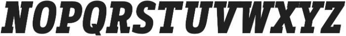 Artegra Slab Condensed Bold Italic otf (700) Font UPPERCASE
