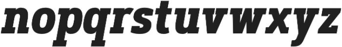 Artegra Slab Condensed Bold Italic otf (700) Font LOWERCASE