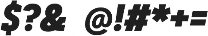 Artegra Slab Condensed ExtraBold Italic otf (700) Font OTHER CHARS