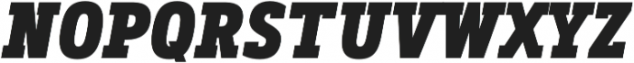 Artegra Slab Condensed ExtraBold Italic otf (700) Font UPPERCASE