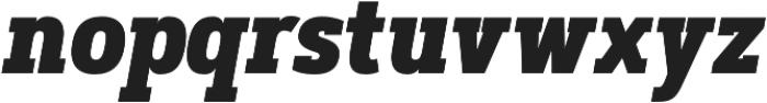 Artegra Slab Condensed ExtraBold Italic otf (700) Font LOWERCASE