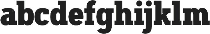 Artegra Slab Condensed ExtraBold otf (700) Font LOWERCASE