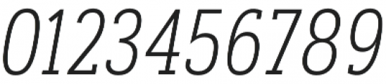 Artegra Slab Condensed ExtraLight Italic otf (200) Font OTHER CHARS