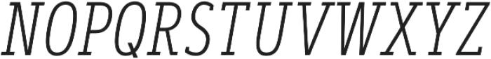 Artegra Slab Condensed ExtraLight Italic otf (200) Font UPPERCASE