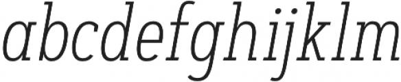 Artegra Slab Condensed ExtraLight Italic otf (200) Font LOWERCASE