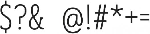 Artegra Slab Condensed ExtraLight otf (200) Font OTHER CHARS