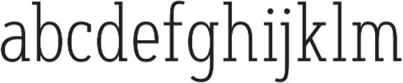 Artegra Slab Condensed ExtraLight otf (200) Font LOWERCASE