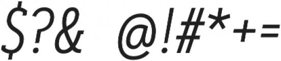 Artegra Slab Condensed Light Italic otf (300) Font OTHER CHARS