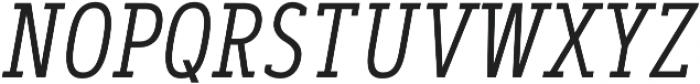 Artegra Slab Condensed Light Italic otf (300) Font UPPERCASE