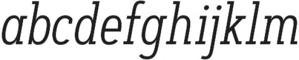 Artegra Slab Condensed Light Italic otf (300) Font LOWERCASE