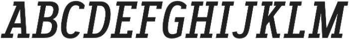 Artegra Slab Condensed Medium Italic otf (500) Font UPPERCASE