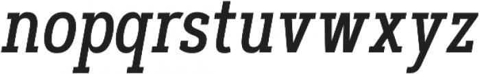 Artegra Slab Condensed Medium Italic otf (500) Font LOWERCASE