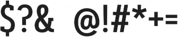Artegra Slab Condensed Medium otf (500) Font OTHER CHARS