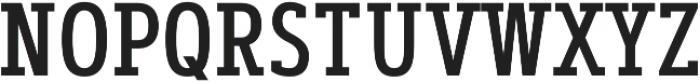 Artegra Slab Condensed Medium otf (500) Font UPPERCASE