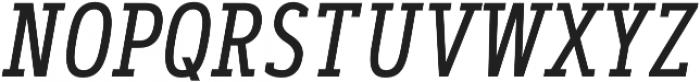Artegra Slab Condensed Regular Italic otf (400) Font UPPERCASE