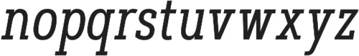 Artegra Slab Condensed Regular Italic otf (400) Font LOWERCASE