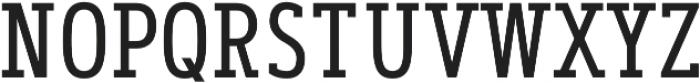 Artegra Slab Condensed Regular otf (400) Font UPPERCASE