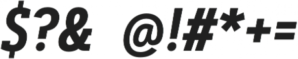 Artegra Slab Condensed SemiBold Italic otf (600) Font OTHER CHARS