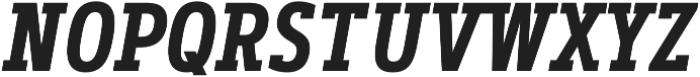 Artegra Slab Condensed SemiBold Italic otf (600) Font UPPERCASE