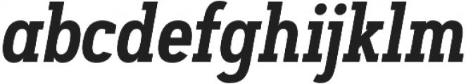 Artegra Slab Condensed SemiBold Italic otf (600) Font LOWERCASE