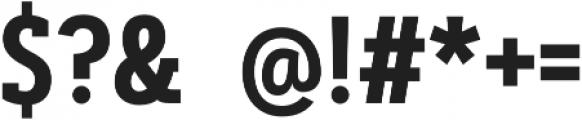 Artegra Slab Condensed SemiBold otf (600) Font OTHER CHARS