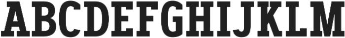 Artegra Slab Condensed SemiBold otf (600) Font UPPERCASE