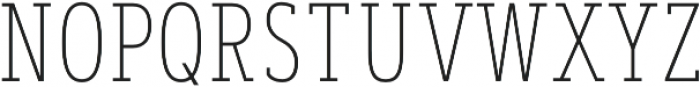 Artegra Slab Condensed Thin otf (100) Font UPPERCASE