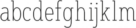 Artegra Slab Condensed Thin otf (100) Font LOWERCASE