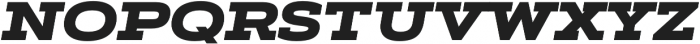 Artegra Slab Extended Black Italic otf (900) Font UPPERCASE