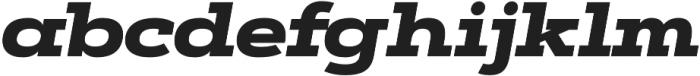 Artegra Slab Extended Black Italic otf (900) Font LOWERCASE