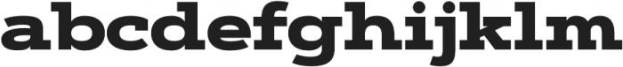 Artegra Slab Extended Black otf (900) Font LOWERCASE