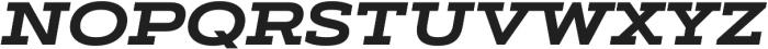 Artegra Slab Extended Bold Italic otf (700) Font UPPERCASE