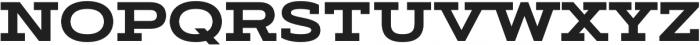 Artegra Slab Extended Bold otf (700) Font UPPERCASE