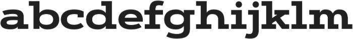 Artegra Slab Extended Bold otf (700) Font LOWERCASE