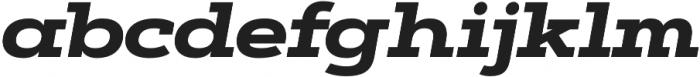 Artegra Slab Extended ExtraBold Italic otf (700) Font LOWERCASE