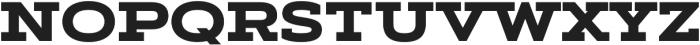 Artegra Slab Extended ExtraBold otf (700) Font UPPERCASE