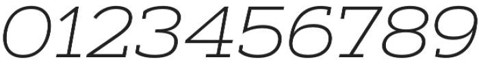 Artegra Slab Extended ExtraLight Italic otf (200) Font OTHER CHARS