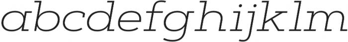 Artegra Slab Extended ExtraLight Italic otf (200) Font LOWERCASE