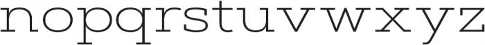 Artegra Slab Extended ExtraLight otf (200) Font LOWERCASE