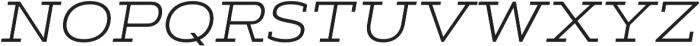 Artegra Slab Extended Light Italic otf (300) Font UPPERCASE