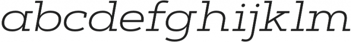 Artegra Slab Extended Light Italic otf (300) Font LOWERCASE