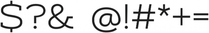 Artegra Slab Extended Light otf (300) Font OTHER CHARS