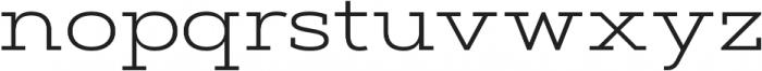 Artegra Slab Extended Light otf (300) Font LOWERCASE