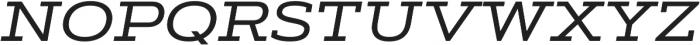 Artegra Slab Extended Medium Italic otf (500) Font UPPERCASE