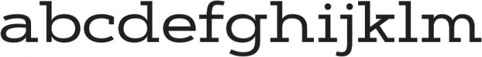 Artegra Slab Extended Medium otf (500) Font LOWERCASE