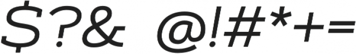 Artegra Slab Extended Regular Italic otf (400) Font OTHER CHARS